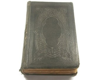 German Book of Psalms / Small German Religious Book / 1884 / Antique Book / Pocket Size Book / Leather Bound /  JUST REDUCED