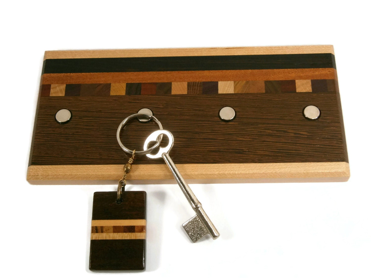 Key holder wood key holder functional decor office decor for Mural key holder
