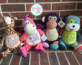 Custom Embroidered Stuffed Animals