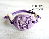 Purple Unicorn Clay Diffuser Bracelet for Kids Aromatherapy Essential Oil Natural Organic Jewelry Adjustable Healthy Healing Gift for Girls