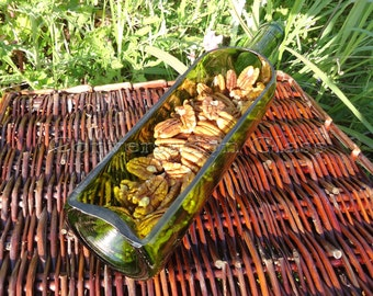 Wine Bottle Serving Tray GREEN