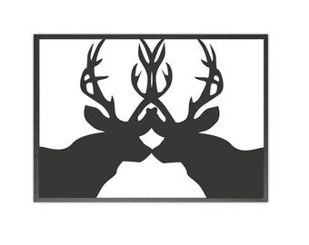 two deers art print
