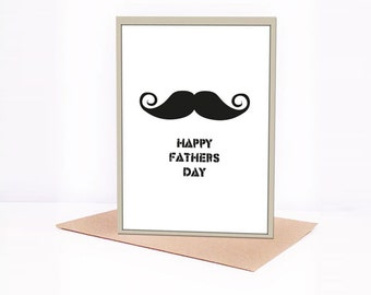 happy fathers day moustache card