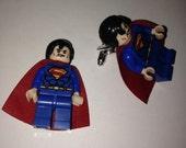 Superhero Lego Cufflinks - Superman
