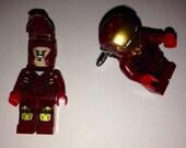 Superhero Lego Cufflinks - Iron Man