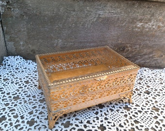 popular items for gold filigree casket on etsy