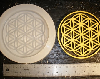 "5.3125"" Half Bloom Flower Of Life Deep Silicone Mold,"