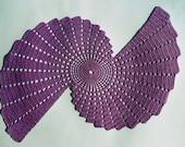 Purple Spiral Lace Doily Cover Coaster Handmade crochet