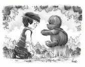 "Signed Giclee Mini Print by James Hance -  ""The Promise"" (Wookiee the Chew)"
