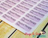 Physical Therapy Planner Sticker - Size Customize-able