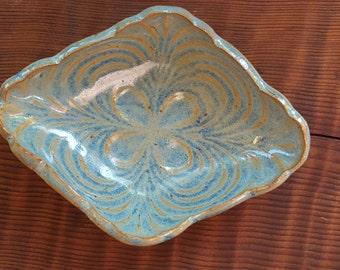 Pottery Dish - Cermaic Dish - Soap Dish - Vanity Tray