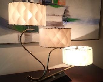 Rare 1950's Majestic lamp 3 Shade Mid Century Modern Retro