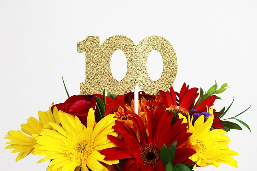 100th birthday centerpiece stick 100th anniversary for 100th birthday decoration ideas
