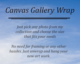 Canvas Gallery Wrap, Ready to hang Art , Large Home Decor, Canvas Art Prints, Home Focal Point, Canvas Wrap Of Your Choice