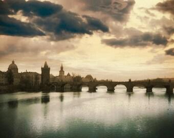 The Charles Bridge, Prague Photography, Prague Sunset, Fine Art Photography, Prague Photo , Urban Photography, Fine Art Photography