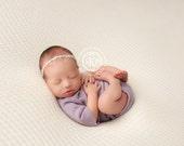 Newborn Photography Fabric Backdrop - Whimsy Backdrop in Ivory -  2 Yards - Photography Backdrop, Posing Fabric, Newborn Prop