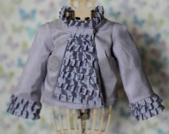 BJD pale lilac silk jacket for SD13