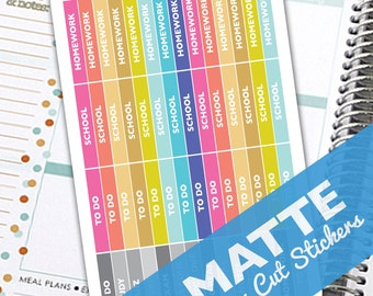 School To Do Headers, Planner stickers, Heading Stickers, To Do Agenda stickers, Planner Header Stickers, College Stickers, Brights