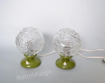 Pair of  original bedroom table lamps original  made by Graewe - Germany 1970