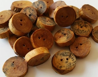 1.5cm larch buttons oiled, Natural wooden buttons, wood buttons, wooden buttons, wood, wooden