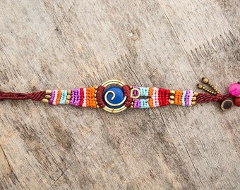 Colorful Bright Funky Festival Macrame Bracelet