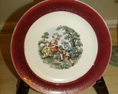 Collectors Souvenir Plate Victorian Rococo Plate Sheep  from Washington DC.