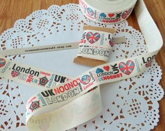 London UK/Union Jack/British sewing fabric ribbon/width 2,5cm/1 mt