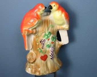 Vintage Tiny Love Bird Bud Vase, Mid Century Japan
