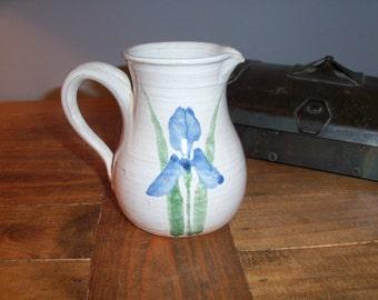 Small Stoneware Pottery Pitcher Creamer