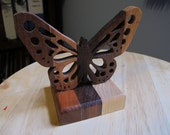 Wood Butterfly Tabletop Ornament Handmade