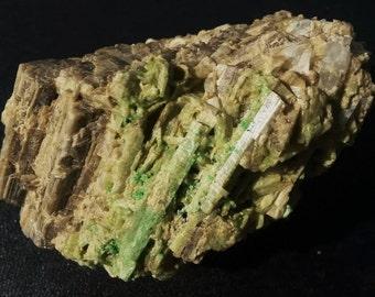 Grossular Crystals on Diopside : Magog, Quebec