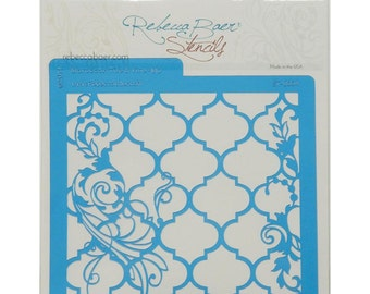 Rebecca Baer Stencil - Moroccan Tile and Vine