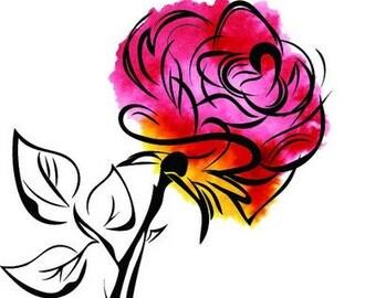 Rubbernecker Stamp - Thorny Rose/Splatter Flower 2