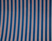 PREMIER PRINTS FABRIC, Trey fabric in American Blue, Home Decor Fabric by the Yard, Blue Red White fabric