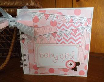 Completed scrapbook album- Baby Girl