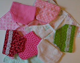 Cloth Diapers for Dolls, Set of 2, For Bitty Baby, Baby Stella, Waldorf and Similar Sized Baby Dolls, Child's Toy, Doll Clothes