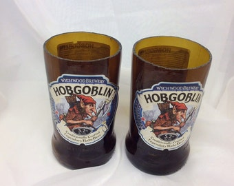 Hobgoblin Beer Glasses (Recycled Bottles) Set of 2
