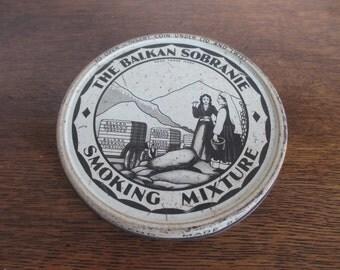 Vintage The Balkan Sobranie Smoking Mixture Tobacco Tin Box