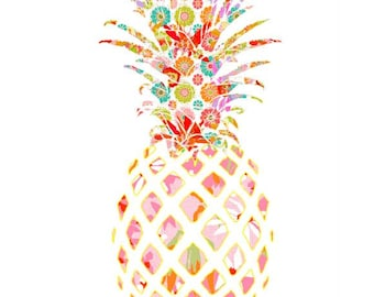 pineapple art pineapple decor tropical wall art tropical art pineapple print tropical nursery abstract art tropical bathroom art fruit print