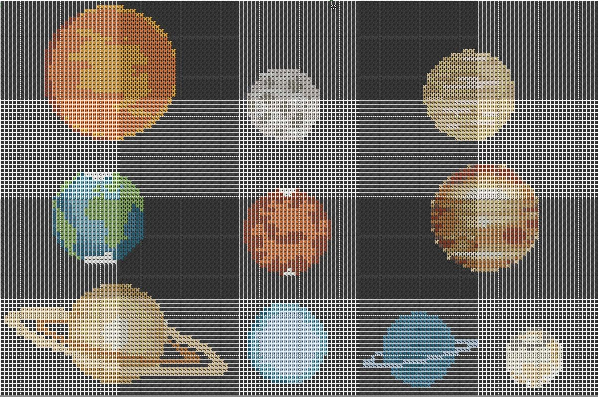 The Planets Pluto Solar System Cross Stitch Pattern Simple