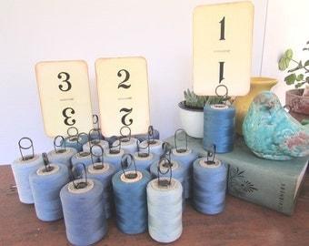 Table Number Holders Vintage Shop Price Holder Cafe Number Holder Thread Spools