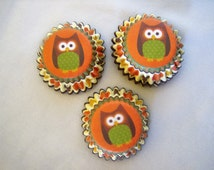 100 Mini Owl cupcake baking cups - owl cupcake liners - autumn fall cupcake liners - baking supplies - baking cups - owl muffin liners