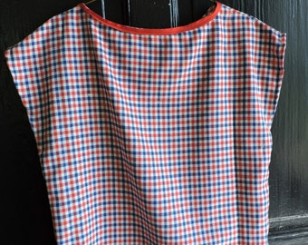 Custom Red, White, and Blue Blouse