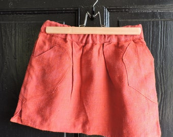 Custom Burnt Red Mini Skirt