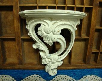 Ornate Heirloom White Decorative Wall Shelf by Dart