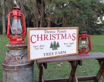 One side personalized pumpkin patch or Christmas tree farm