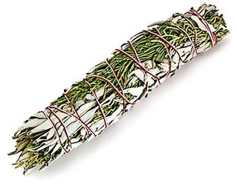 White Sage & Cedar , Smudge Stick, Offerings, Rituals, Sacred Space, Ceremony, Altars, Pagan