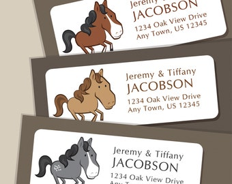 Address Label Stickers, Horse Address Labels, Return Address Labels, Address Stickers, Horse Labels, Personalized Address Labels