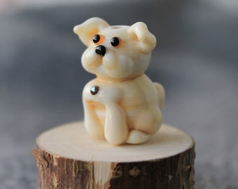 Dog Lampwork Bead, Lampwork Animal Bead, Handmade Artisan Glass Beads, Pet, Lampwork Pet Beads, Lampwork Glass Beads, Lampwork, Glass