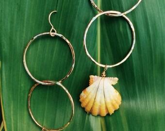 Maui sunrise shell earrings